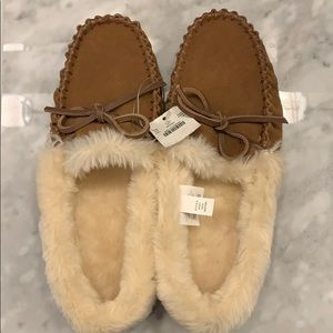 NWT J. Crew leather slippers